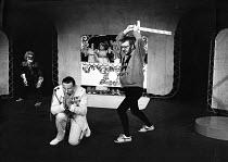 HAMLET by Shakespeare  director: Charles Marowitz <br> l-r: David Schofield (Fortinbras), Richard Mayes (Claudius), Tony Haygarth (Hamlet)  Open Space Theatre, London W1 1975 (c) Donald Cooper/Phot...