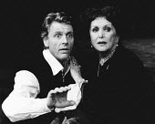 HAMLET by Shakespeare design: Keith Grant director: Terry Palmer <br> Edward Fox (Hamlet), Maxine Audley (Gertrude) Young Vic, London SE1 05/08/1982 (c) Donald Cooper/Photostage photos@photostage.co....