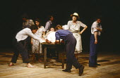 AS I LAY DYING by William Faulkner adapted for the stage and directed by Peter Gill design: Alison Chitty lighting: Stephen Wentworth <br> on table: June Watson (Addie Bundren) standing: Gillian Barge...