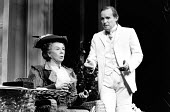 THE IMPORTANCE OF BEING EARNEST by Oscar Wilde design: Carl Toms director: Donald Sinden <br> Wendy Hillier (Lady Bracknell), Clive Francis (John Worthing, J.P.) Royalty Theatre, London WC2 11/09/1987...