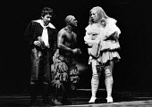 THE TEMPEST by Shakespeare design: Ralph Koltai lighting: Leo Leibovici director: Clifford Williams <br> l-r: Paul Moriarty (Stephano), David Suchet (Caliban), Richard Griffiths (Trinculo) Royal Shake...