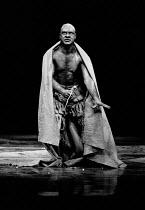 THE TEMPEST by Shakespeare design: Ralph Koltai lighting: Leo Leibovici director: Clifford Williams <br> David Suchet (Caliban) Royal Shakespeare Company (RSC), Royal Shakespeare Theatre, Stratford-up...