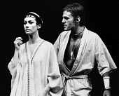 TROILUS AND CRESSIDA by Shakespeare design: Chris Dyer lighting: Clive Morris directors: John Barton with Barry Kyle <br> Francesca Annis (Cressida), Mike Gwilym (Troilus) Royal Shakespeare Company (R...