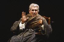 AMADEUS by Peter Shaffer design & lighting: John Bury director: Peter Hall <br> Frank Finlay (Antonio Salieri) a National Theatre (NT) 1979 production / Her Majesty's Theatre, Haymarket, London SW1 02...