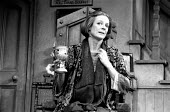 LETTICE AND LOVAGE by Peter Shaffer set design: Alan Tagg costumes: Susan Yelland lighting: Robert Bryan  director: Michael Blakemore <br> Maggie Smith (Lettice Douffet) Globe Theatre, London W1 28/1...