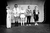 HAMLET by Shakespeare adapted & directed by Charles Marowitz <br> l-r: Gertrude, Laertes, Ophelia, Hamlet, Clown Open Space Theatre, London W1 1975 (c) Donald Cooper/Photostage photos@photostage.co...