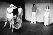 HAMLET by Shakespeare adapted & directed by Charles Marowitz <br> l-r: Ophelia, Hamlet, Rosencrantz, Guildenstern, Gertrude Open Space Theatre, London W1 1975 (c) Donald Cooper/Photostage photos@photo...