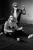 HAMLET by Shakespeare adapted & directed by Charles Marowitz <br> l-r: David Schofield (Fortinbras), Tony Haygarth (Hamlet) Open Space Theatre, London W1 1975 (c) Donald Cooper/Photostage photos@photo...