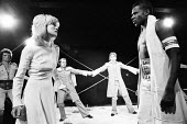 OTHELLO by Shakespeare design: Robin Don adapted & directed by Charles Marowitz <br> left: David Schofield, Judy Geeson (Desdemona) right: Rudolph Walker (Othello) The Open Space Theatre, London W1 08...