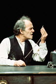 KRAPP'S LAST TAPE by Samuel Beckett director: Patrick Magee <br> Max Wall (Krapp) Greenwich Theatre, London SE10 03/12/1975 (c) Donald Cooper/Photostage photos@photostage.co.uk ref/CT-04