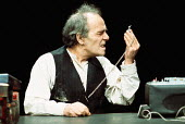 KRAPP'S LAST TAPE by Samuel Beckett director: Patrick Magee <br> Max Wall (Krapp) Greenwich Theatre, London SE10 03/12/1975 (c) Donald Cooper/Photostage photos@photostage.co.uk ref/CT-05
