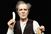 KRAPP'S LAST TAPE by Samuel Beckett director: Patrick Magee <br> Max Wall (Krapp) Greenwich Theatre, London SE10 03/12/1975 (c) Donald Cooper/Photostage photos@photostage.co.uk ref/CT-06