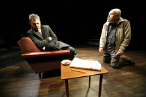 A NUMBER   by Caryl Churchill   director: Jonathan Munby,l-r: Samuel West (Bernard / Michael Black), Timothy West (Salter),Studio Theatre / Crucible Theatre / Sheffield, England               24/10/20...