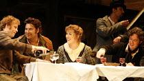 LA BOHEME   by Puccini   conductor: Philippe Jordan   director: John Copley,l-r: William Dazaley (Marcello), Katie Van Kooten (Mimi), Marcelo Alvarez (Rodolfo), Jared Holt (Schaunard),The Royal Opera...