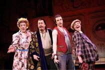 l-r: Ian McKellen (Widow Twankey), Roger Allam (Abbanazar), Neil McDermott (Aladdin), Frances Barber (Dim Sum) in ALADDIN at the Old Vic Theatre, London SE1  16/12/2005 ~in a new version by Bille Brow...