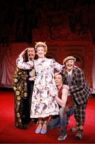 l-r: Roger Allam (Abbanazar), Ian McKellen (Widow Twankey), Neil McDermott (Aladdin), Frances Barber (Dim Sum) in ALADDIN at the Old Vic Theatre, London SE1  16/12/2005 ~in a new version by Bille Brow...