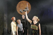 'ANTIGONE AT HELL'S MOUTH' (Nick Darke - director: Mike Shepherd),l-r: Josie Daxter, Daisy Lewis, Kirsty Woodward, Kate Hewitt (Gonnieta),National Youth Theatre / Soho Theatre, London W1     15/08/200...