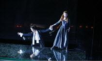 ARIODANTE   by Handel   conductor: Christopher Moulds   original director: David Alden   design: Ian MacNeil,l-r: Alice Coote (Ariodante), Sarah Tynan (Dalinda),English National Opera / London Coliseu...