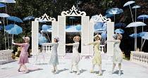 THE BOYFRIEND   by Sandy Wilson   director: Ian Talbot    ,l-r: Selina Chilton (Dulcie), Helen Owen (Nancy), Rachel Jerram (Polly), Haley Flaherty (Fay), Summer Strallen (Maisie) ,Open Air Theatre / R...