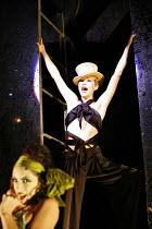 "CABARET   book: Joe Masteroff   music: John Kander   lyrics: Fred Ebb   director: Rufus Norris,""Don""t Tell Mama"" - l-r: Rebecca Sutherland (Frenchie), Anna Maxwell Martin (Sally Bowles) ,Lyric Theatre..."