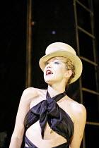 CABARET   book: Joe Masteroff   music: John Kander   lyrics: Fred Ebb   director: Rufus Norris,^Don^t Tell Mama^: Anna Maxwell Martin (Sally Bowles),Lyric Theatre, London W1           10/10/2006...