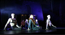 CABARET   book: Joe Masteroff   music: John Kander   lyrics: Fred Ebb   director: Rufus Norris,^Wilkommen^ - front, l-r: Benny Maslov (Rudy), Josephine Darvill-Mills (Rosie), Jack Jefferson (Hans),Lyr...