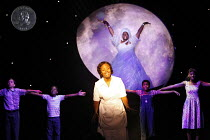 CAROLINE, OR CHANGE   book & lyrics: Tony Kushner   music: Jeanine Tesori   director: George C Wolfe,front centre: Tonya Pinkins (Caroline Thibodeaux)   rear: Angela M Caesar (The Moon),children, l-r:...