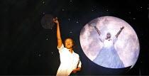 CAROLINE, OR CHANGE   book & lyrics: Tony Kushner   music: Jeanine Tesori   director: George C Wolfe,l-r: Tonya Pinkins (Caroline Thibodeaux), Angela M Caesar (The Moon),Lyttelton Theatre / National T...