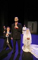 THE CHANGELING  by Middleton & Rowley  design: Nick Ormerod  director: Declan Donnellan ~l-r: Tom Hiddleston (Alsemero), Laurence Spellman (Alonzo/as ghost), Olivia Williams (Beatrice-Joanna) ~a co-pr...