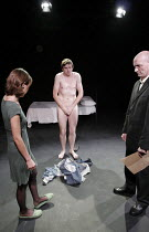 CLEANSED    by Sarah Kane   director: Sean Holmes,l-r: Polly Frame (Grace), Craig Gazey (Robin), Paul Brennen (Tinker),Oxford Stage Company / Arcola Theatre, London E8                          07/11/2...