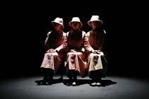 COME AND GO   by Samuel Beckett   director: Annie Ryan,l-r: Barbara Brennan (Ru), Susan Fitzgerald (Vi), Bernadette McKenna (Flo),Beckett Centenary Festival / BITE:06 / The Pit / Barbican Centre, Lond...