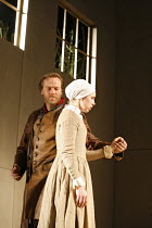 THE CRUCIBLE   by Arthur Miller   director: Dominic Cooke,Iain Glen (John Proctor), Michelle Terry (Mary Warren),Royal Shakespeare Company /  Royal Shakespeare Theatre, Stratford-upon-Avon, England...