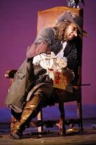 CYRANO   music: Franco Alfano   libretto: Henri Cain after Rostand   conductor: Mark Elder   director: Francesca Zambello,Act IV - ailing Cyrano's spirit is broken: Placido Domingo (Cyrano),The Royal...