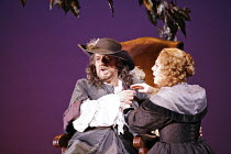CYRANO   music: Franco Alfano   libretto: Henri Cain after Rostand   conductor: Mark Elder   director: Francesca Zambello,Act IV: Placido Domingo (Cyrano), Sondra Radvanovsky (Roxane),The Royal Opera...