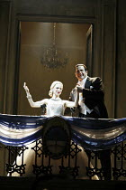 EVITA  music: Andrew Lloyd Webber  lyrics: Tim Rice  director: Michael Grandage ~~Elena Roger (Eva Peron), Philip Quast (Juan Peron)~Adelphi Theatre, London WC2  21/06/2006 ~(c) Donald Cooper/Photosta...