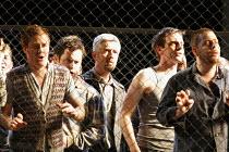 FIDELIO   music: Beethoven   libretto: Sonnleithner & Treitschke   conductor: Mark Elder   director: Deborah Warner,Act I: prisoners briefly released into daylight,Glyndebourne Festival Opera, E.Susse...