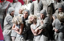 THE FLYING DUTCHMAN (Der Fliegende Hollander) by Wagner   conductor: Carlo Rizzi   director: David Pountney~Daland's crew commit 'gang rape',Welsh National Opera / Wales Millennium Centre, Cardiff...