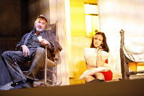 FOOL FOR LOVE   by Sam Shepard   director: Lindsay Posner,Larry Lamb (Old Man), Juliette Lewis (May),Apollo Theatre, London W1          15/06/2006,