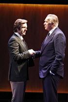 FROST/NIXON   by Peter Morgan   director: Michael Grandage,l-r: Michael Sheen (David Frost), Frank Langella (Richard Nixon),Donmar Warehouse / London WC2                   21/08/2006,