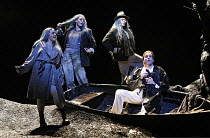 GOTTERDAMMERUNG   by Wagner   conductor: Antonio Pappano   director: Keith Warner ,l-r: Sarah Fox (Woglinde), Heather Shipp (Wellgunde), Sarah Castle (Flosshilde), John Treleaven (Siegfried),The Royal...