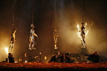 GOTTERDAMMERUNG   by Wagner   conductor: Antonio Pappano   director: Keith Warner ,final scene - statues of the Gods are lowered into inferno,The Royal Opera / Covent Garden   London WC2        17/04/...