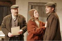 HARVEST   by Richard Bean   director: Wilson Milam,l-r: Mike Burnside (Lewis), Jane Hazlegrove (Maudie), Matthew Dunster (William),Jerwood Theatre Downstairs / Royal Court Theatre, London SW1...