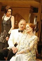 HAY FEVER   by Noel Coward   director: Peter Hall,l-r: Belinda Lang (Myra Arundel), Peter Bowles (David Bliss), Judi Dench (Judith Bliss),Theatre Royal Haymarket, London SW1                        20/...