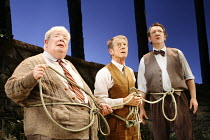 HEROES   by Gerald Sibleyras   translated by Tom Stoppard   director: Thea Sharrock,l-r: Richard Griffiths (Henri), John Hurt (Gustave), Ken Stott (Philippe),Wyndham's Theatre, London WC2        18/10...