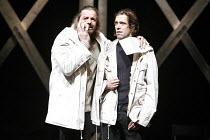 KING LEAR   by Shakespeare   director: Lev Dodin   design: David Borovsky,l-r: Sergey Kuryshev (Earl of Gloucester), Vladimir Seleznev (Edmund),Maly Drama Theatre of St Petersburg / BITE:06 / Barbican...