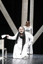 KING LEAR   by Shakespeare   director: Lev Dodin   design: David Borovsky,I/i - division of the kingdom: Petr Semak (King Lear), Daria Rumyantseva (Cordelia),Maly Drama Theatre of St Petersburg / BITE...