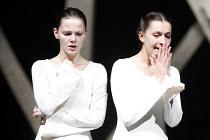KING LEAR   by Shakespeare   director: Lev Dodin   design: David Borovsky,l-r: Elizaveta Boyarskaya (Goneril), Elena Solomonova (Regan),Maly Drama Theatre of St Petersburg / BITE:06 / Barbican Theatre...