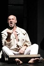 KING LEAR   by Shakespeare   director: Lev Dodin   design: David Borovsky,in the stocks: Sergey Kozyrev (Duke of Kent),Maly Drama Theatre of St Petersburg / BITE:06 / Barbican Theatre, London EC2   10...