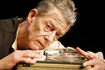 KRAPP'S LAST TAPE   by Samuel Beckett   director: Robin Lefevre ~John Hurt (Krapp) ~Beckett Centenary Festival / BITE:06 / The Pit / Barbican Centre, London EC2  26/04/2006~(c) Donald Cooper/Photostag...