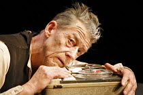 KRAPP'S LAST TAPE   by Samuel Beckett   director: Robin Lefevre ~John Hurt (Krapp),Beckett Centenary Festival / BITE:06 / The Pit / Barbican Centre, London EC2  26/04/2006~(c) Donald Cooper/Photostage...